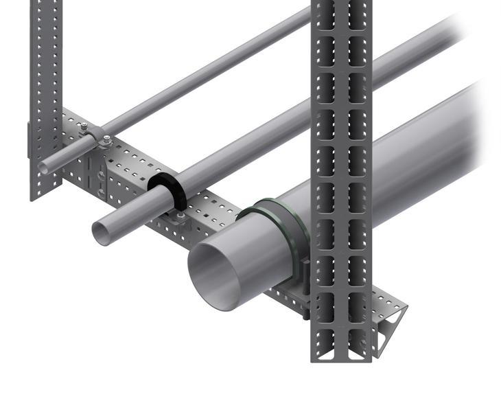 Система опор для трубопроводов