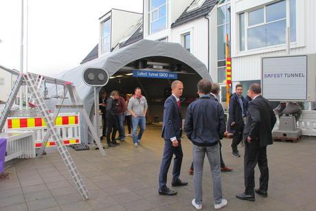 Vi satte opp Safest Tunnel standen ved årets Tunnelseminar.