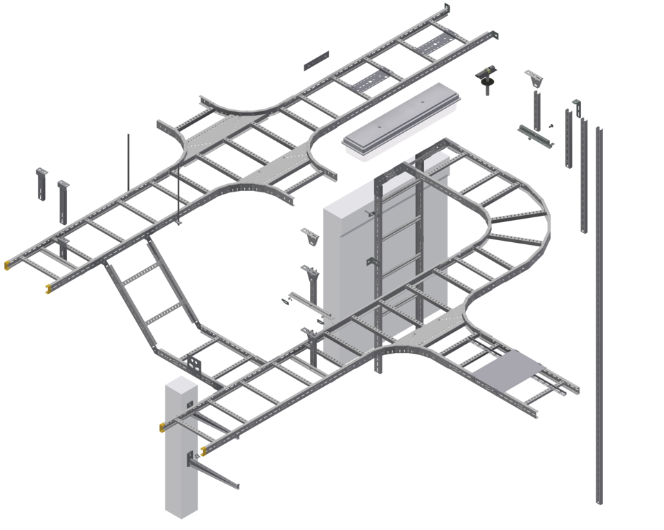 LOE Cable Ladder System Assembly