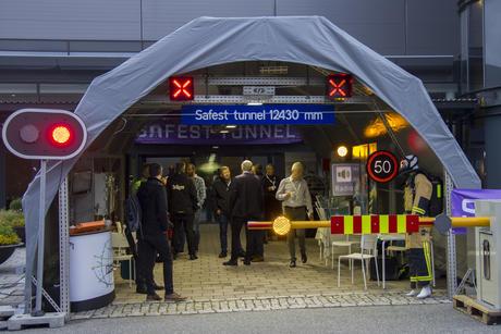 Tunnelen satt opp for Safest Tunnel konferanse i 2017.