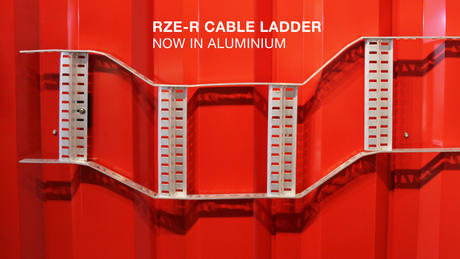 RZE-R Cable Ladder System for Ships in Aluminium.